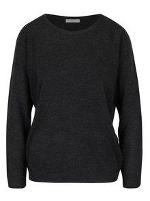 Tmavě šedý lehký žíhaný svetr Jacqueline de Yong Friends