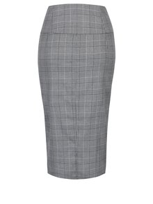 Šedá kostkovaná pouzdrová sukně Miss Selfridge