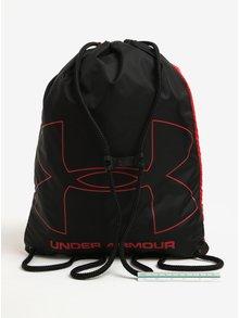 Rucsac unisex negru & rosu cu print - Under Armour