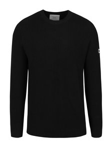 Čierny rebrovaný sveter Jack & Jones Ethan