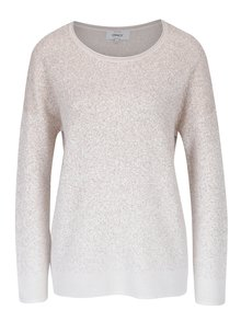 Krémový žíhaný svetr ONLY Patricia