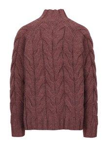 Starorůžový vlněný svetr Selected Femme India