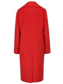 Palton rosu cu revere si buzunare - Miss Selfridge