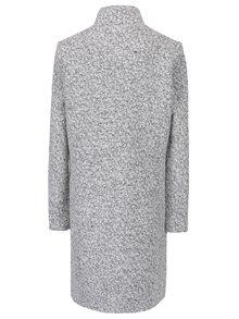 Palton crem&negru cu guler inalt din amestec de lana VILA Fall