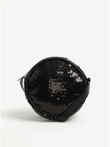 Čierna dievčenská crossbody kabelka s flitrami name it Louis
