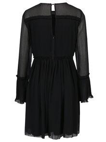 Čierne šaty s plisovaným topom VILA Vesper