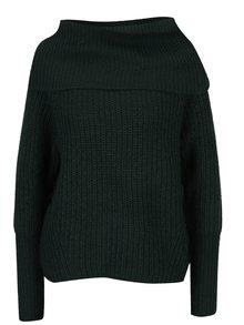 Tmavozelený sveter s golierom VILA View