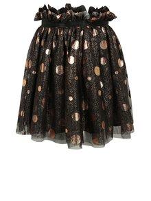 Čierna dievčenská tylová trblietavá bodkovaná sukňa name it Folly
