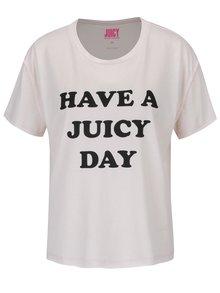 Růžové tričko s potiskem Juicy Couture