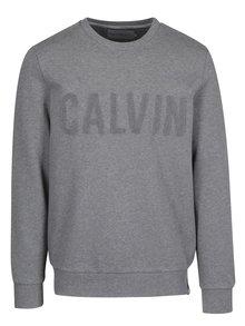Šedá mikina s výšivkou Calvin Klein Jeans