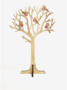 Světle hnědá dřevěná dekorace ve tvaru stromu Sass & Belle
