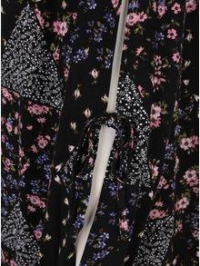 Rochie neagra cu print floral si maneca lunga -  Juicy Couture