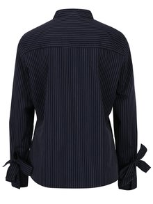 Tmavomodrá pruhovaná košeľa s mašľami na rukávoch Jacqueline de Yong Taylor