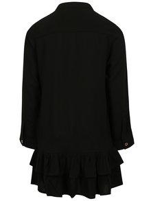 Čierne dievčenské košeľové šaty s volánikmi name it Hassi