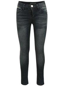 Tmavě modré holčičí skinny džíny s vyšisovaným efektem name it Andrine