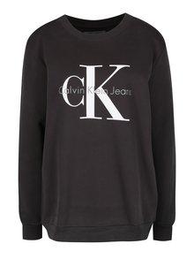 Tmavě šedá dámská mikina s potiskem Calvin Klein Jeans Crew