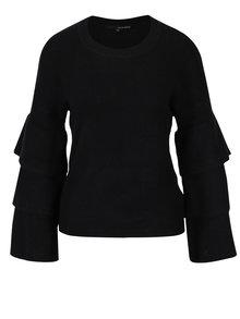 Čierny sveter s volánmi na rukávoch TALLY WEiJL