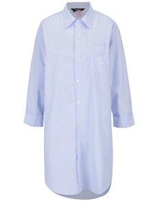 Modro-biela pruhovaná nočná košeľa s vreckom Lauren Ralph Lauren Heritage