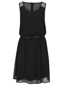 Černé vzorované šaty s páskem ONLY Lia