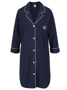 Tmavě modrá puntíkovaná noční košile Lauren Ralph Lauren Heritage