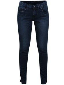 Tmavomodré dámske skrátené skinny rifle Calvin Klein Jeans MR