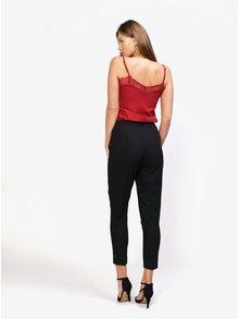 Pantaloni negri cu centura - MISSGUIDED