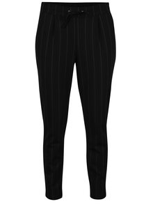 Pantaloni negri in dungi cu talie elastica Jacqueline de Yong Laundry
