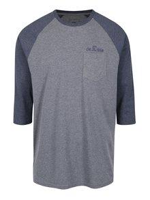 Sivé pánske custom fit tričko s potlačou na chrbte VANS Original Lock