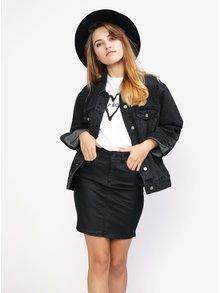 Jacheta oversized din denim gri inchis - MISSGUIDED
