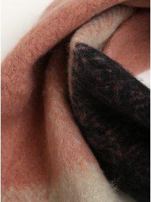 Ružovo-sivý šál so strapcami ONLY Azur