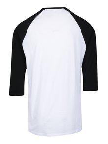 Bluza alb&negru cu print si maneci 3/4 VANS Full Patch