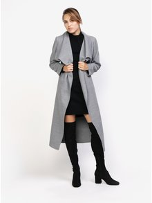 Světle šedý lehký kabát MISSGUIDED