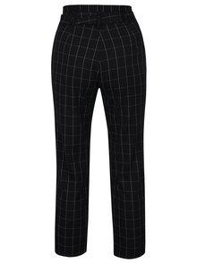 Čierne kockované nohavice s opaskom TALLY WEiJL