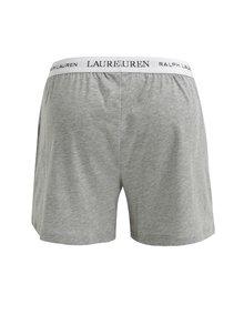Boxeri clasici gri melanj cu logo si nasturi - Lauren Ralph Lauren Soft Jersey