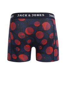 Červeno-modré bodkované boxerky Jack & Jones Path