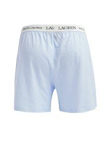 Boxeri clasici din bumbac cu logo si dungi bleu & alb - Lauren Ralph Lauren Soft Jersey