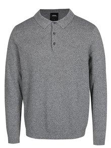 Sivý sveter s golierom Burton Menswear London