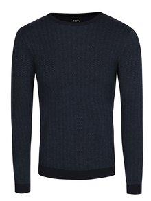 Modrý vzorovaný svetr Burton Menswear London
