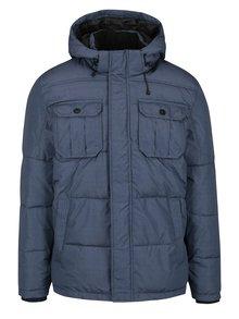 Modrá prešívaná zimná bunda s kapucňou Jack & Jones Will