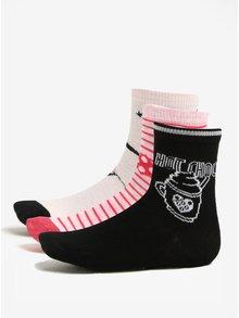 Čierno-ružová súprava troch párov dievčenských ponožiek Lego Wear Alexa