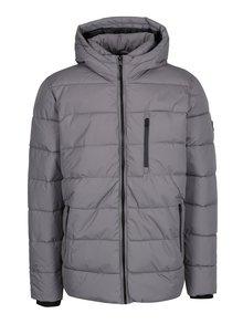 Sivá zimná prešívaná bunda Burton Menswear London