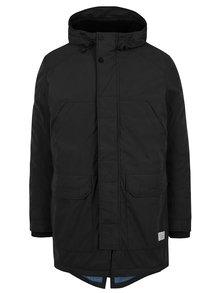 Černá zimní bunda s kapucí Jack & Jones Jager