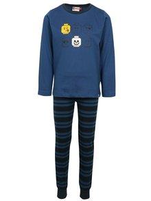 Černo-modrý klučičí set kalhot a trička na spaní Lego Wear Nicolai