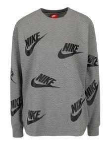 Sivá dámska mikina s potlačou Nike