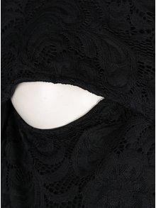 Rochie neagra din dantela cu decolteu suprapus pentru alaptat  Mama.licious Mivana
