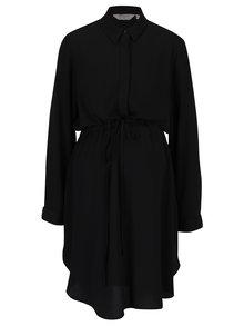 Čierne tehotenské/dojčiace košeľové šaty Dorothy Perkins Maternity