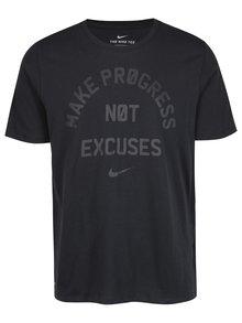 Černé pánské funkční tričko s krátkým rukávem Nike
