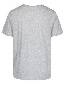 Sivé pánske funkčné tričko s krátkym rukávom Nike