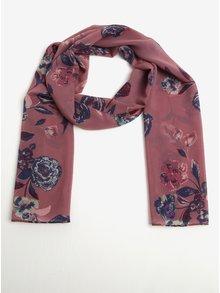 Starorůžový květovaný šátek Dorothy Perkins