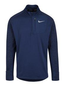 Modré pánské funkční tričko s dlouhým rukávem Nike